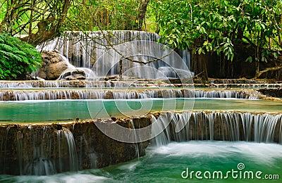 Kuang Xi Waterfall, Luangprabang, Laos.