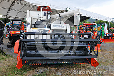 The KUBOTA  tractor Editorial Stock Photo