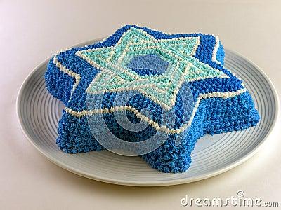 Kuchen mit Magen David (Davidsstern)