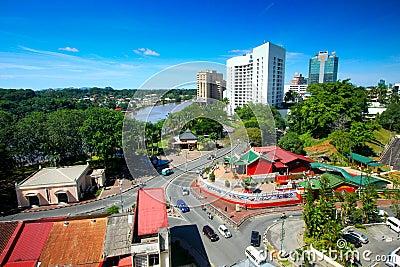 Aerial view of kuching stock volvoab for Home wallpaper kuching