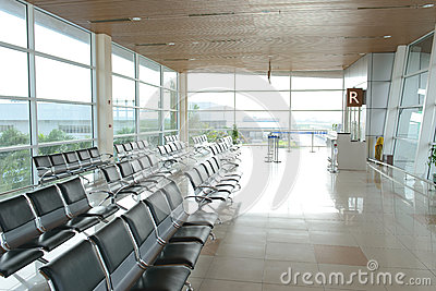 Kuching International Airport Interior Editorial Photo