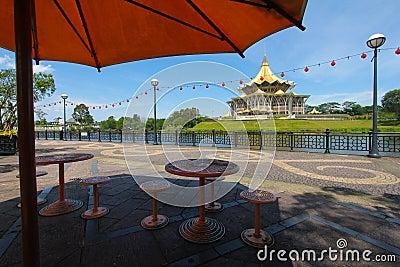 Kuching riverside park, Sarawak, Malaysia