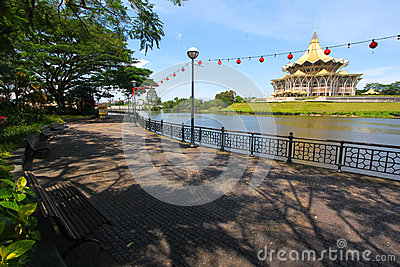 Kuching riverside park , Sarawak, Malaysia