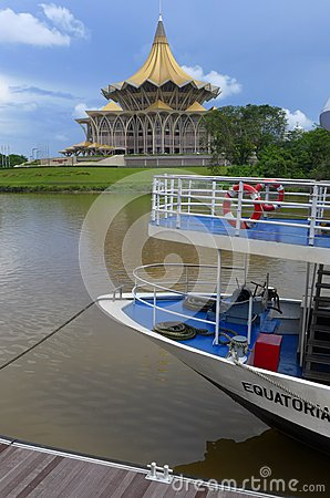 Kuching waterfront cruise boat Editorial Image
