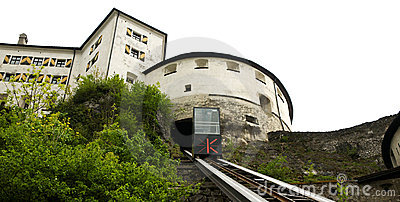 Kufstein - elevator to the castle fortress Editorial Photo