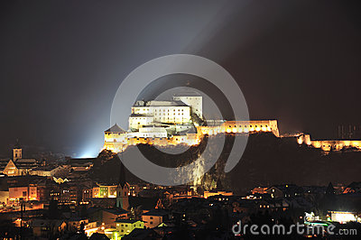 Kufstein fortress in night
