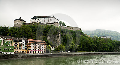 Kufstein - fortress over Inn Editorial Photography