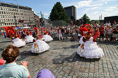 Kukkaisviikot- the flowers celebrations in Tampere Editorial Photography