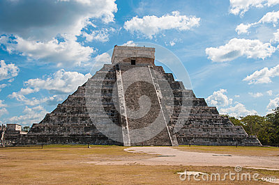 Kukulkan Pyramid at Chichen Itza on the Yucatan pe