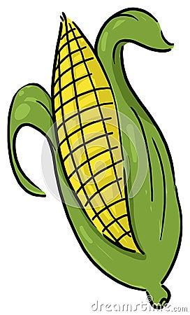 Kukurydzanego ucho ilustracja