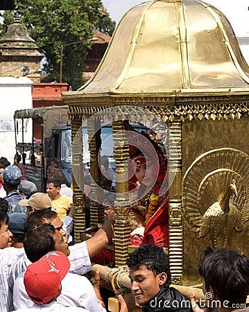 Kumari in Kathmandu Editorial Stock Image