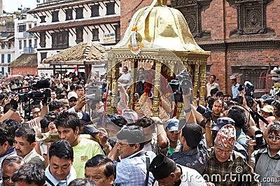 Kumari in Kathmandu Nepal Editorial Stock Photo