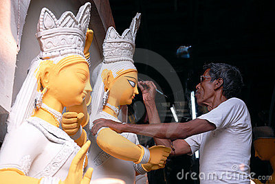 Kumartuli-Idol making aria Editorial Stock Image