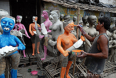 Kumartuli-Idol making aria Editorial Photo