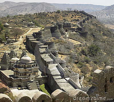 Kumbhalgarth Fort and Walls - Rajasthan - India