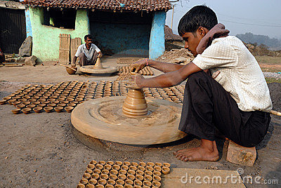 Kumhaar The Indian Pottery Maker Editorial Photo Image