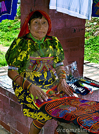 Kuna Woman, Panama Editorial Stock Photo