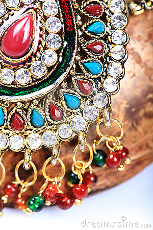 Kundan jewellery detail