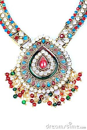 Kundan and polky jewellery