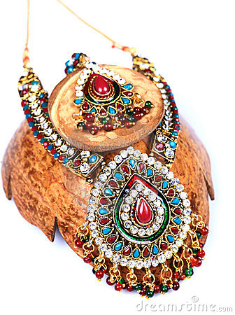Kundan and polky jewellery
