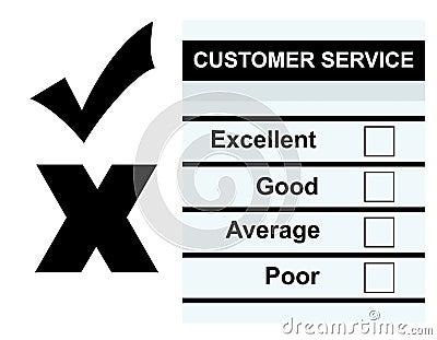Kundendienst-Feed-backformular