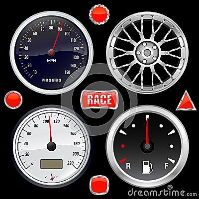 Kundenspezifischer Ausrüstungsvektor des Autos