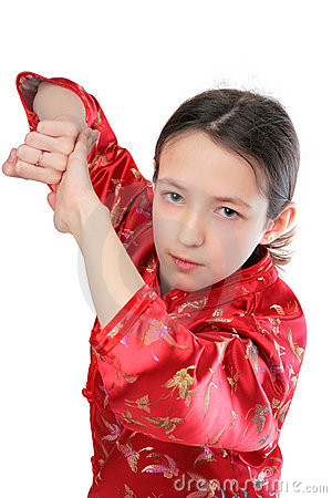 Kung fu girl blow