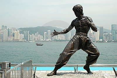 Kungfu sculpture - Hongkong Editorial Image