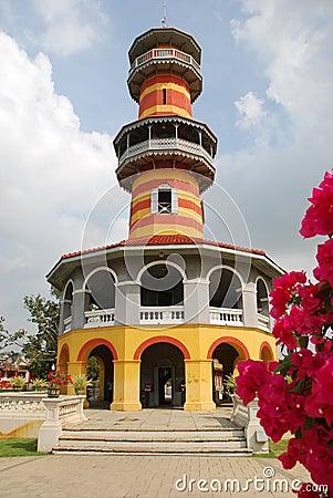 Kunglig person thailand för slott för smällobservatoriumpa