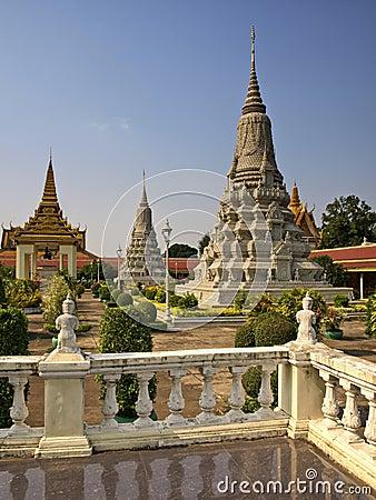 Kunglig slott, Stupa, Cambodja