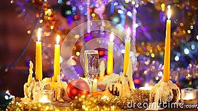 Kunst-frohe Weihnachten und glückliches neues Jahr stock video footage