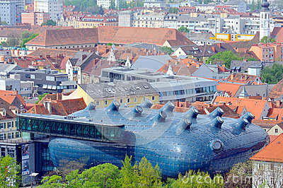 Kunsthaus in the City of Graz, Austria Editorial Photo
