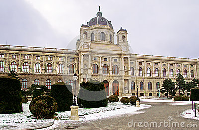 Kunsthistorisches Museum in the winter