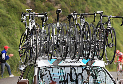 Kuota bikes of AG2R La Mondiale team Editorial Photography