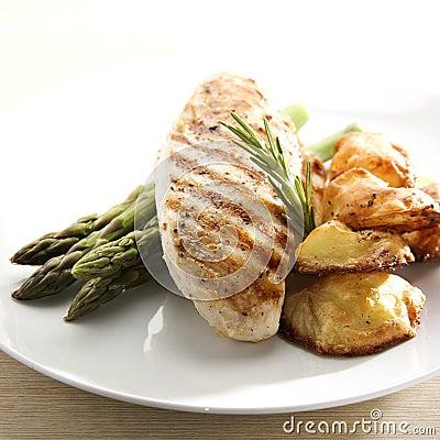 Kurczak piec na grillu