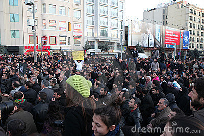 Kurdish Demonstration Editorial Stock Image
