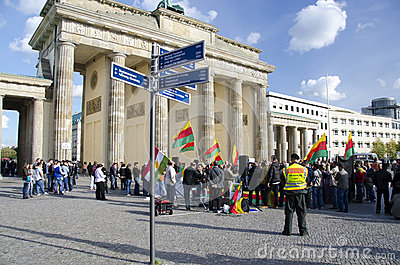 Kurdish Demonstration Editorial Stock Photo