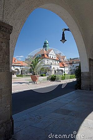 Free Kurpark Badehaus Royalty Free Stock Image - 977686