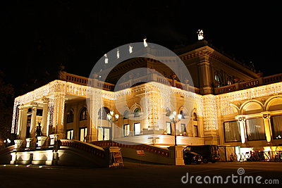 Kursalon in Vienna - Austria - at night Editorial Stock Photo