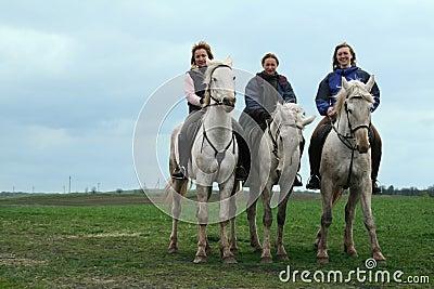 KURSK, RUSSIA-  MAY 04, 2007:  three russian girls   sitting on Editorial Stock Photo