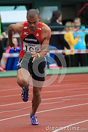 Kurt Couto - 400 m hurdles Editorial Stock Image