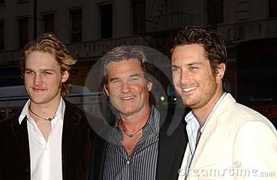 Kurt Russell, Oliver Hudson Editorial Photography