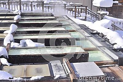 Kusatsu hot-spring japan
