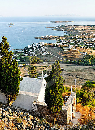 Kustlinje av grekiska öar