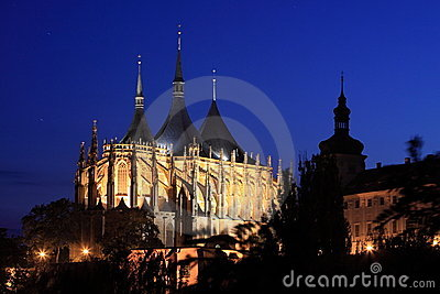 Kutna Hora at night