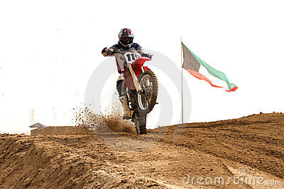 Kuwait motorcross competition Editorial Stock Photo