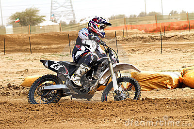 Kuwait motorcross rider Editorial Photo