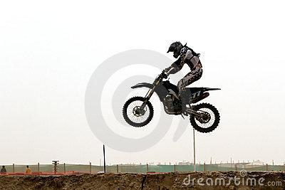 Kuwait motorcross rider in the air Editorial Stock Photo
