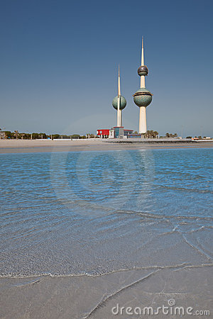 Kuwait Towers by the coast