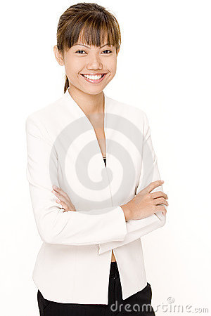 Kvinna för 5 white